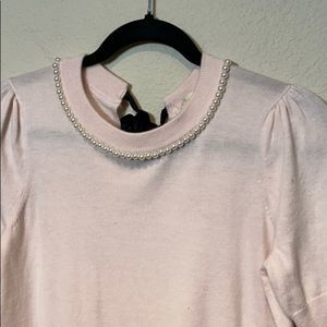 kate spade Sweaters - Kate Spade Faux Pearl Embellished Rose Dew Sweater